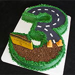 3 road birthday Cake