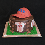 Baseball Hat Birthday Cake